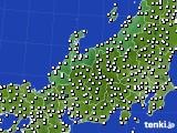 2015年08月30日の北陸地方のアメダス(風向・風速)