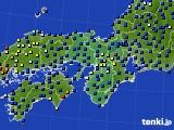 2015年09月01日の近畿地方のアメダス(日照時間)