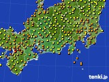 2015年09月01日の東海地方のアメダス(気温)