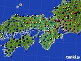 2015年09月02日の近畿地方のアメダス(日照時間)