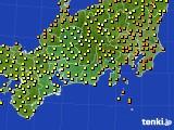 2015年09月03日の東海地方のアメダス(気温)