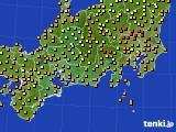 2015年09月04日の東海地方のアメダス(気温)