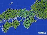 2015年09月06日の近畿地方のアメダス(日照時間)