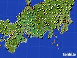 2015年09月09日の東海地方のアメダス(気温)