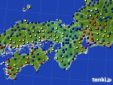 2015年09月10日の近畿地方のアメダス(日照時間)