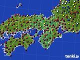 2015年09月11日の近畿地方のアメダス(日照時間)