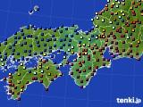 2015年09月12日の近畿地方のアメダス(日照時間)