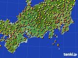 2015年09月12日の東海地方のアメダス(気温)