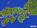 2015年09月13日の近畿地方のアメダス(日照時間)
