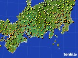 2015年09月13日の東海地方のアメダス(気温)