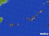 2015年09月14日の沖縄地方のアメダス(気温)