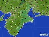 2015年09月14日の三重県のアメダス(気温)