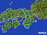 2015年09月15日の近畿地方のアメダス(日照時間)
