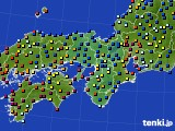 2015年09月18日の近畿地方のアメダス(日照時間)