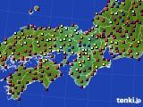 2015年09月19日の近畿地方のアメダス(日照時間)