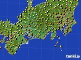 2015年09月19日の東海地方のアメダス(気温)
