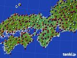 2015年09月20日の近畿地方のアメダス(日照時間)