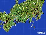 2015年09月20日の東海地方のアメダス(気温)