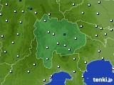 山梨県のアメダス実況(風向・風速)(2015年09月20日)