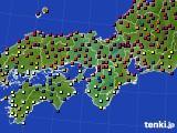 2015年09月22日の近畿地方のアメダス(日照時間)