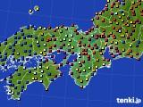2015年09月23日の近畿地方のアメダス(日照時間)