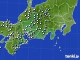 東海地方のアメダス実況(降水量)(2015年09月24日)