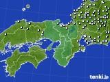 近畿地方のアメダス実況(降水量)(2015年09月25日)
