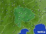 山梨県のアメダス実況(降水量)(2015年09月25日)