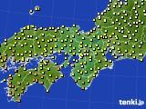 近畿地方のアメダス実況(気温)(2015年09月25日)
