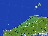 島根県のアメダス実況(風向・風速)(2015年09月25日)