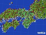 2015年09月27日の近畿地方のアメダス(日照時間)