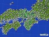 2015年09月27日の近畿地方のアメダス(風向・風速)
