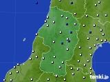 2015年09月27日の山形県のアメダス(風向・風速)