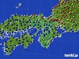 2015年09月30日の近畿地方のアメダス(日照時間)