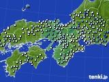 2015年10月01日の近畿地方のアメダス(降水量)