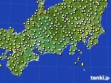 2015年10月01日の東海地方のアメダス(気温)