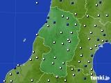 2015年10月01日の山形県のアメダス(風向・風速)