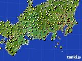 2015年10月02日の東海地方のアメダス(気温)