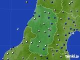 2015年10月02日の山形県のアメダス(風向・風速)