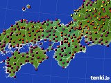 2015年10月03日の近畿地方のアメダス(日照時間)