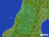 2015年10月03日の山形県のアメダス(日照時間)