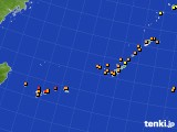 2015年10月03日の沖縄地方のアメダス(気温)