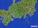 2015年10月03日の東海地方のアメダス(気温)