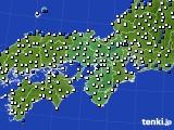 2015年10月03日の近畿地方のアメダス(風向・風速)
