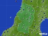 2015年10月03日の山形県のアメダス(風向・風速)