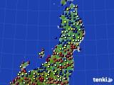 東北地方のアメダス実況(日照時間)(2015年10月04日)
