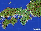 近畿地方のアメダス実況(日照時間)(2015年10月04日)