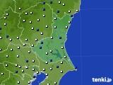 茨城県のアメダス実況(風向・風速)(2015年10月04日)