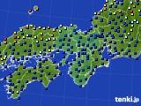 近畿地方のアメダス実況(日照時間)(2015年10月05日)