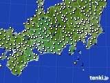 東海地方のアメダス実況(風向・風速)(2015年10月05日)